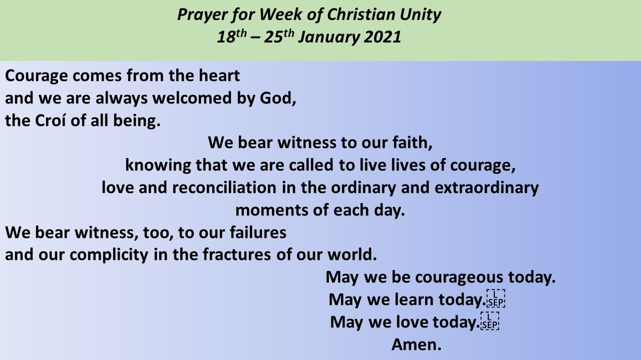 Christian Unity Week 2021